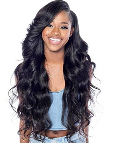 Brazilian Virgin Human Hair Lace Front Wigs Body Wave Natural Color with Baby Hair