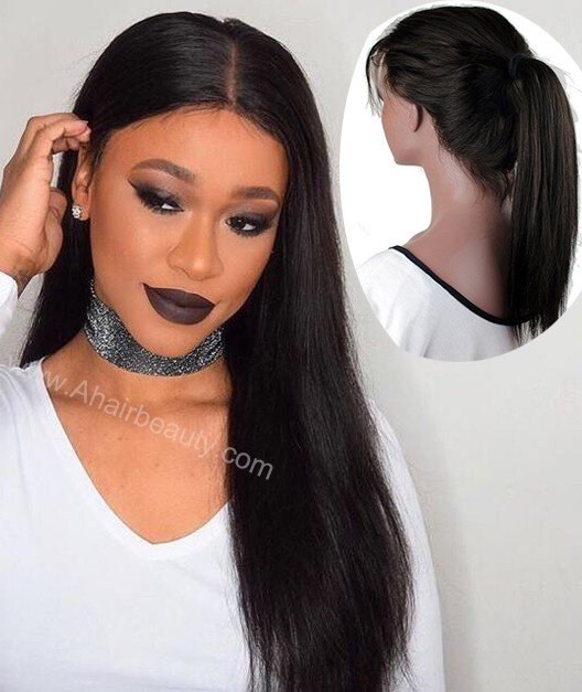 New 360 Lace Wig Heavy Density Indian Remy Human Hair Silky Straight [LW3601]