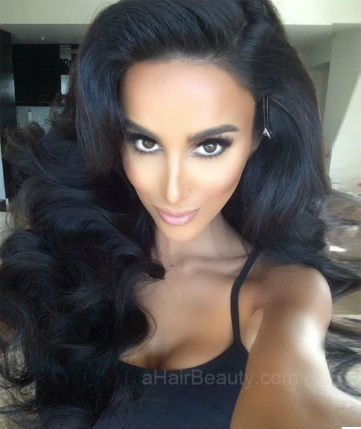 Sexy Body Wave Lace Front Wigs Indian Remy Hair Natural Black