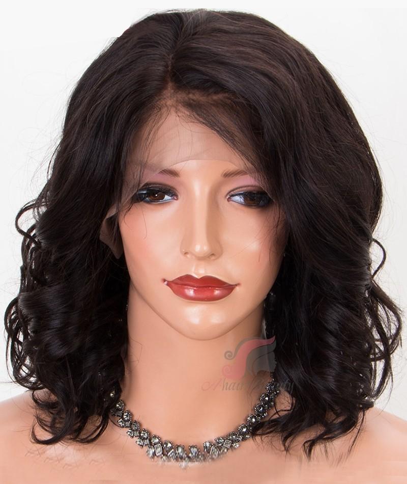 Fashion Wave Short Bob Hairstyle Hair Wigs Indian Remy Hair Glueless
