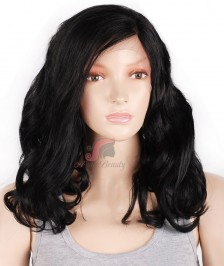 Curly Wave 150% Density Natural Short Human Hair Wig Glueless Lace Front Wigs Indian Short Bob Wig For Black Woman[BBW15]
