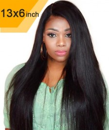 New Style 6x13inch Deep Part Silky Straight Lace Front Wigs Indian Remy Hair New [DP04]