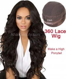 Heavy 180% Density 360 Frontal Lace Wig Body Wave Brazilian Virgin Remy Human Hair Best Quality