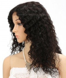 Brazilian Virgin Curly Remy Human Hair Glueless Full Lace Wigs Natural Color Affordable Hair