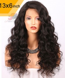 6x13inch Deep Part Curly Lace Front Wigs Indian Remy Hair[DP02]