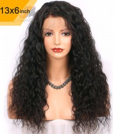 6x13inch Deep Part Loose Curly Lace Front Wigs Indian Remy Hair New [DP03]
