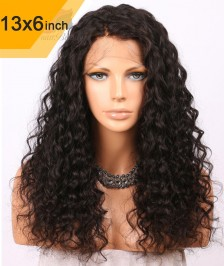 6x13inch Deep Part Small Curly Lace Front Wigs Indian Remy Hair[DP05]