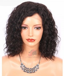 Short Bob Fashion Curly Hairstyle Indian Remy Hair Glueless Lace Front Wigs [BBW20]