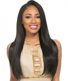 Lace Front Wigs Top Quality Virgin Brazilian Remy Human Hair Silky Straight  Natural Color