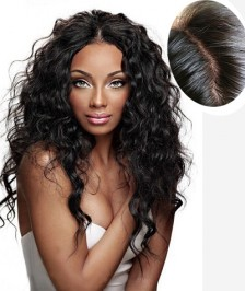 4''X4'' Silk Base Human Hair Wig Brazilian Virgin Hair  130 Density Glueless Silk Top Lace Wig Bleached Knots for Black Women Sexy Curly