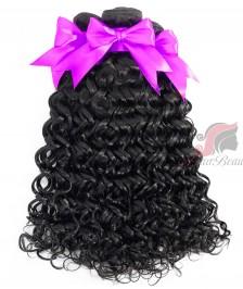 Water Wave 3 PCS Human Hair Bundles Double Weft 7A Indian Remy Hair Weave Bundles [WIWW01]