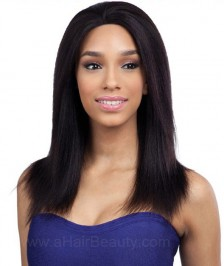 Light Yaki Straight Virgin Brazilian Remy Human Hair Glueless Lace Front Wigs High Quality