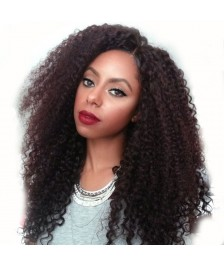 Brazilian Virgin Deep curly Remy Human Hair Glueless Full Lace Wigs Natural Color High Quality