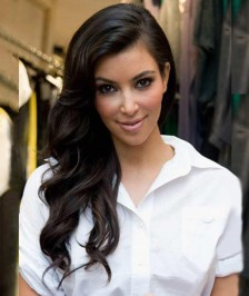 22 Inch kim kardashian hairstyle Inspired Big Wave Indian Thick Density Virgin Human Hair Lace Wigs
