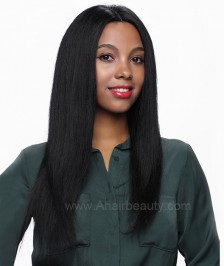 Light Yaki Glueless Full Lace Wigs Indian Remy Human Quality Hair