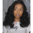 Wavy Lace Front Wigs Indian Remy Hair Natural Black [ILWS23]