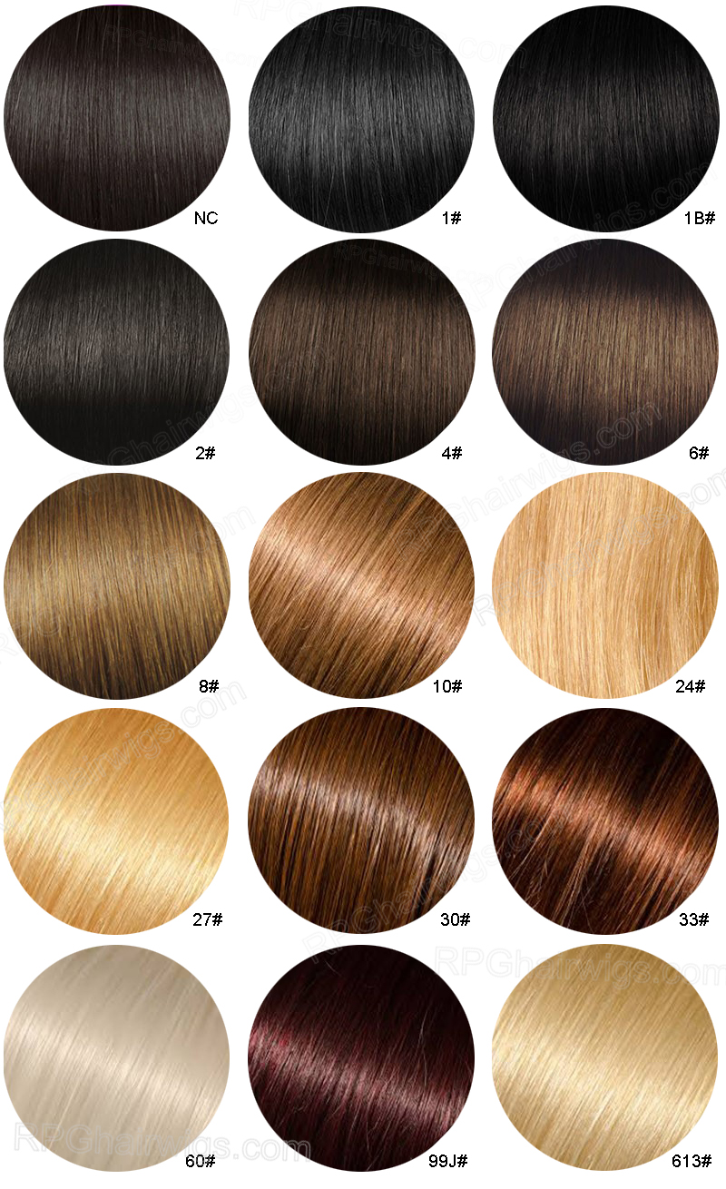 Hair Color Chart Design Templates